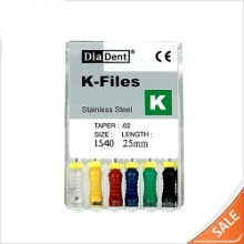 Stainless handfile K-type (6pcs/box)