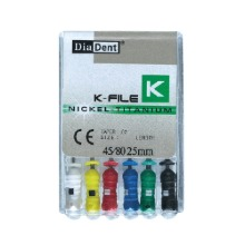 Ni-Ti hand file K-type (6pcs/box)