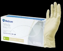 (medicom) Vitals easy fit - latex gloves 100pcs